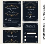 wedding invitation   save the... | Shutterstock .eps vector #687893338