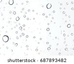 water drops on glass. | Shutterstock . vector #687893482