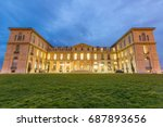 marseille palais du pharo night ... | Shutterstock . vector #687893656