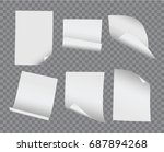 vector realistic blank bent and ... | Shutterstock .eps vector #687894268