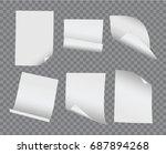 vector realistic blank bent and ... | Shutterstock .eps vector #687894268