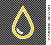 drop of water sign. vector.... | Shutterstock .eps vector #687897295