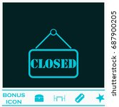 closed plate icon flat. simple... | Shutterstock . vector #687900205