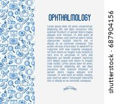 ophthalmology concept with... | Shutterstock .eps vector #687904156
