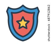 shield star  | Shutterstock .eps vector #687912862