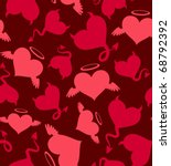 seamless vector pattern with... | Shutterstock .eps vector #68792392