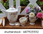 """Porcelain Set Pattern """"roses"""" ..."""