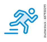 running icon   Shutterstock .eps vector #687930295
