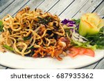 rice noodles is stir fried with ...   Shutterstock . vector #687935362