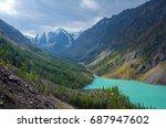 mountain landscape. shavlinsky... | Shutterstock . vector #687947602