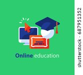 educational resources vector... | Shutterstock .eps vector #687951352