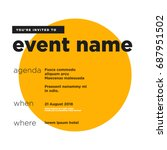 event invitation template with...   Shutterstock .eps vector #687951502
