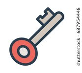 key icon | Shutterstock .eps vector #687954448