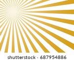 abstract yellow sun rays... | Shutterstock .eps vector #687954886