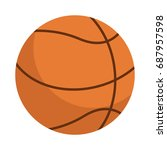 orange basketball ball sport...   Shutterstock .eps vector #687957598
