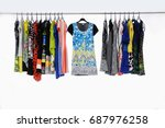 variety of casual female... | Shutterstock . vector #687976258
