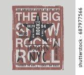 music rock festival typography  ... | Shutterstock .eps vector #687977566
