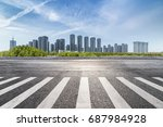 panoramic skyline and buildings ... | Shutterstock . vector #687984928