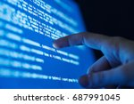 blue screen of death  system... | Shutterstock . vector #687991045