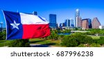 close up of texas flag... | Shutterstock . vector #687996238