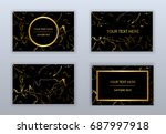 set of black and gold business...   Shutterstock .eps vector #687997918