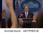 white house press secretary... | Shutterstock . vector #687998518