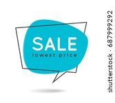 minimal style flat speech... | Shutterstock .eps vector #687999292