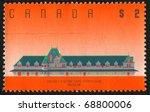 canada   circa 1989  stamp... | Shutterstock . vector #68800006