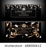 luxury event invitation cards... | Shutterstock .eps vector #688000612