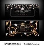luxury event invitation cards... | Shutterstock .eps vector #688000612