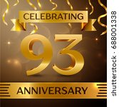 ninety three years anniversary...   Shutterstock . vector #688001338