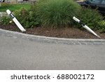Small photo of run over reflector posts