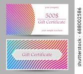 a set of certificate with a... | Shutterstock .eps vector #688002586