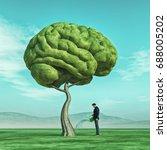 conceptual image of a man... | Shutterstock . vector #688005202