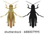 vector illustration of a... | Shutterstock .eps vector #688007995
