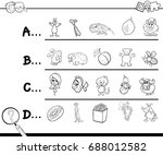 black and white cartoon... | Shutterstock . vector #688012582