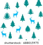christmas seamless pattern with ... | Shutterstock .eps vector #688015975