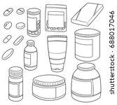 vector set of medicine | Shutterstock .eps vector #688017046