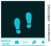 shoes icon flat. simple blue... | Shutterstock . vector #688019362
