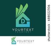 ok home initial letter d logo... | Shutterstock .eps vector #688022506