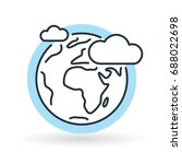 simple earth with clouds and...   Shutterstock .eps vector #688022698