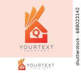 ok home initial letter q logo... | Shutterstock .eps vector #688023142