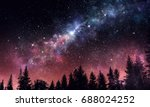 stary clear night sky. mixed... | Shutterstock . vector #688024252