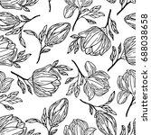 peony  background vector... | Shutterstock .eps vector #688038658