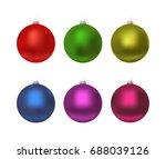 colorful christmas balls. set...   Shutterstock .eps vector #688039126