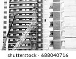 the construction crane and the... | Shutterstock . vector #688040716
