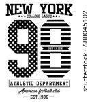 new york city flag america...   Shutterstock .eps vector #688045102