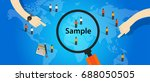 sample from population... | Shutterstock .eps vector #688050505