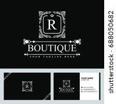 luxury logo template in vector... | Shutterstock .eps vector #688050682