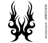 tattoo tribal vector design.... | Shutterstock .eps vector #688051858